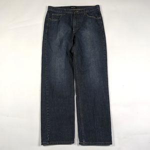 Claiborne Straight Leg Mens Size 34 X 32 Dark Wash